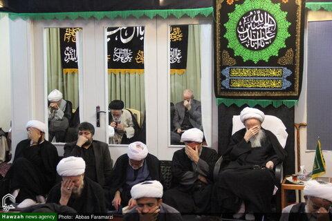 بالصور/ مجالس العزاء في ذكرى استشهاد الإمام الحسن المجتبى (ع) في بيوت مراجع الدين والعلماء بقم المقدسة