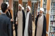 اساتید حوزه قزوین از مراکز پژوهشی قم بازدید کردند+ عکس
