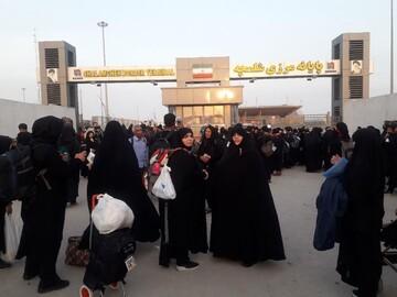 حضور آتش به اختیار مبلغات حوزه تهران در راهپیمائی اربعین