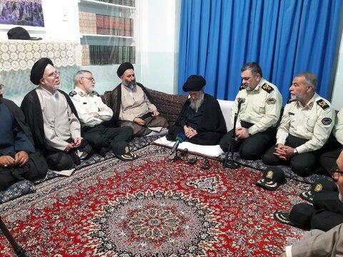 حضرت آیت الله علوی گرگانی در دیدار فرمانده نیروی انتظامی