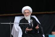 فیلم| خاطره آیت الله العظمی نوری همدانی از شهید حاج قاسم سلیمانی