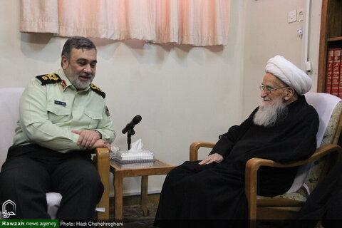 بالصور/ قائد الشرطة الإيرانية يلتقي بمراجع التقليد العظام بقم المقدسة
