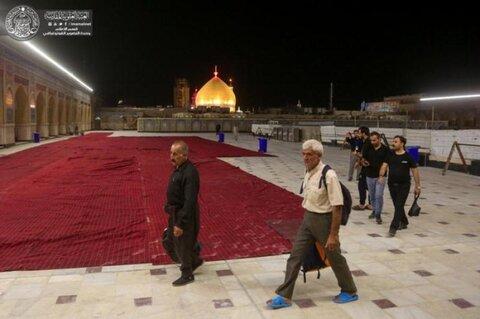 افتتاح جزء الزيارة والعبادة في صحن السيد صحن فاطمة (عليها السلام) لزائري الأربعينية