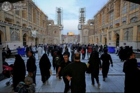 """استراحة الزائرين في صحن فاطمة عليها السلام"""" تستقبل أكثر من 100 ألف زائر يوميا"""