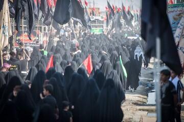 تصاویر/ حال و هوای زائران در پیاده روی اربعین حسینی