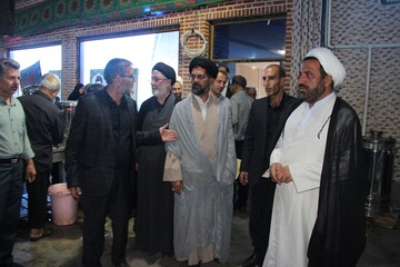 موکب شهدای شهرستان آوج برپاشد