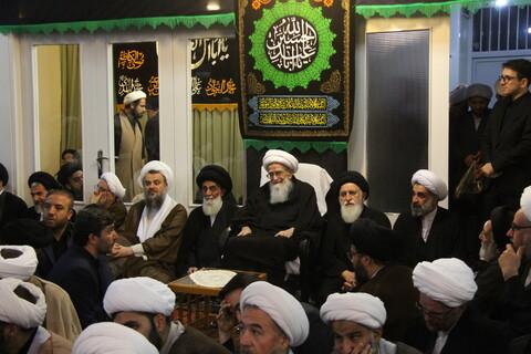تصاویر/ نشست جمعی از اساتید حوزه با حضور آیتالله العظمی صافی گلپایگانی
