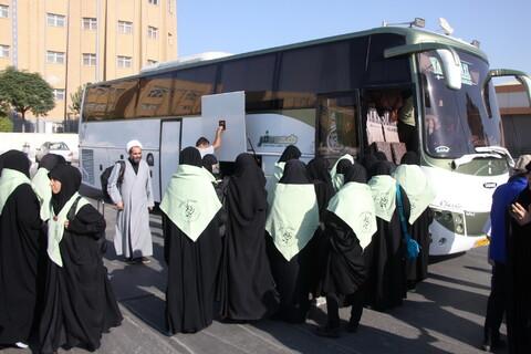 تصاویر/ بدرقه مبلغان اربعینی جامعةالزهرا(س)