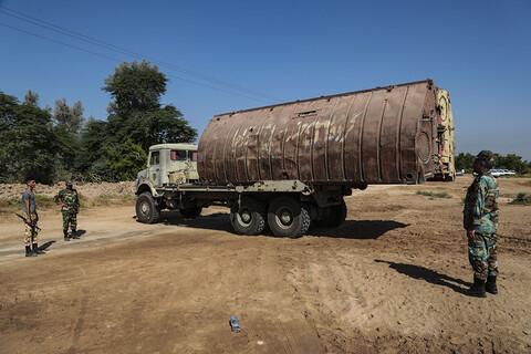 مستند تصویری/ احداث پل شناور ارتش بین روستای عنافچه و شهرستان ملاثانی