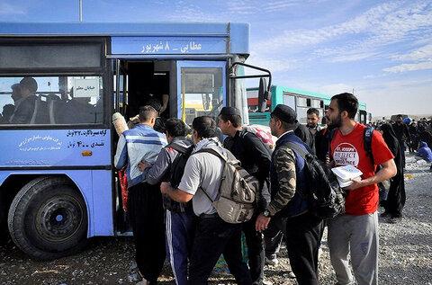 اعزام اتوبوس به عراق