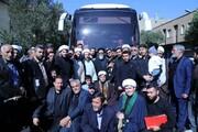 تصاویر بدرقه طلاب آذربایجان شرقی اعزامی به اربعین