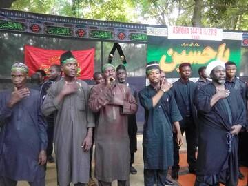 فیلم/ عزاداری طلاب نیجریه در موکب امام خامنهای در کمالوند خرم آباد