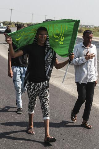 تصاویر/ پیاده روی اربعینی مردم خوزستان به سمت مرز چذابه