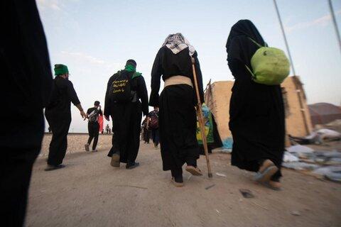 پیاده روی زائران اربعین در راه بهشت(1)