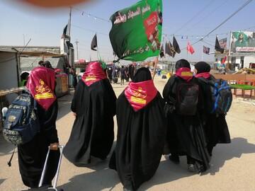 اعزام طلاب خواهر زباندان به عراق جهت تبلیغ اربعینی