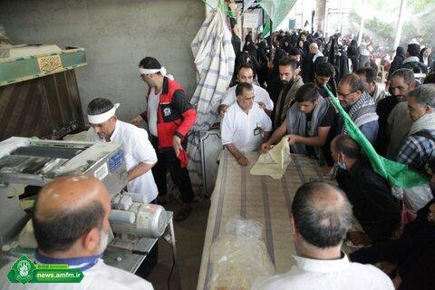 پخت نان در موکب آستان مقدس