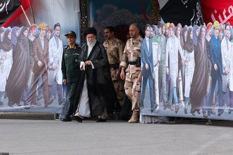 تصاویر/ حضور و سخنرانی رهبر معظم انقلاب در مراسم دانشآموختگی دانشجویان دانشگاه امام حسین(ع)