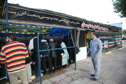 تصاویر/ بازدید معاون استاندار کردستان از موکبهای اربعین استان