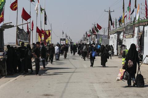 تصاویر/ خروج زائران از پایانه مرزی شلمچه