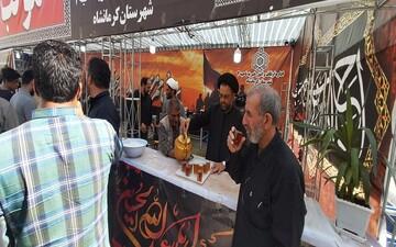 پذیرایی 10 هزار نفری زوار اربعین در امامزاده باقر(ع) بیستون + عکس