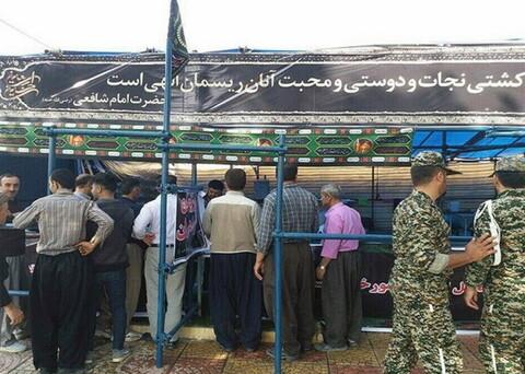 تصاویر/ پذیرایی مردم کردستان در موکبها از زوار اربعین