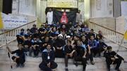تصاویر/ حضور جمعی از دانش آموزان منتخب مدارس صدرای ولایت در پیادهروی اربعین