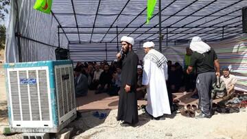 مشارکت فعال روحانیت، از کار عمرانی در موکبها تا اقامه نماز جماعت + عکس
