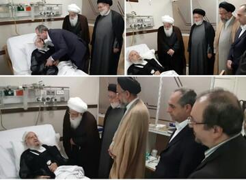 عیادت وزیر اطلاعات و استاندار قم از آیت الله العظمی مکارم شیرازی