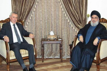 جمعی از مسئولان لبنان با سید حسن نصرالله دیدار کردند