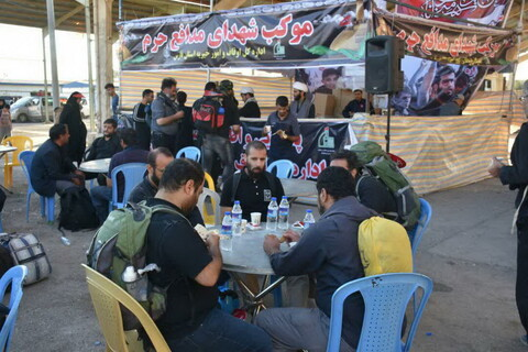 تصاویر/ خدمت رسانی روحانیون در مرز خسروی(منذریه عراق)