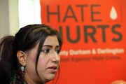Dog trained to attack Muslims and child on child violence as hate crime rises