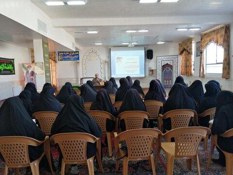 جانشین فرمانده سپاه خوزستان، در مدرسه علمیه حضرت نرجس(س) یزدانشهر