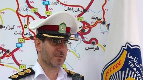 سرهنگ مراد حیدری رئیس پلیس راه کرمانشاه