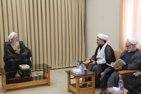 تصاویر/ دیدار جمعی از اعضای مرکز تخصصی مهدویت با آیت الله العظمی جوادی آملی