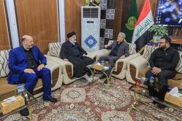 الأمين العام للعتبة العلوية يستقبل رئيس السلطة القضائية الإيرانية