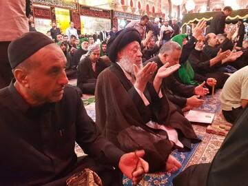 آیتالله موسوی جزایری به خیل مشتاقان طریق الحسین(ع) پیوست+عکس