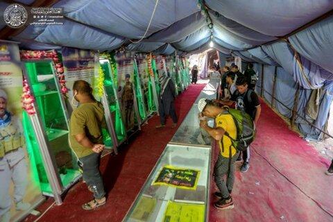 نمایشگاه شهدای حوزه علمیه  در مسیر زائران اربعین