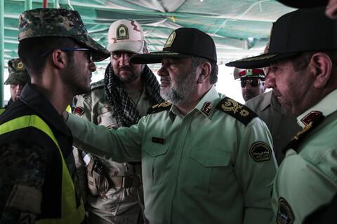 تصاویر/ بازدید فرمانده نیروی انتظامی کشور از پایانه مرزی چذابه