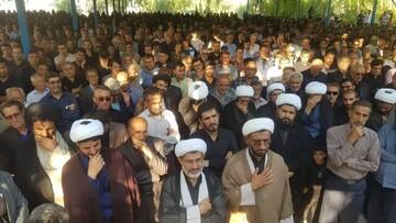 پیکر معاون حوزه علمیه فارس تشییع و تدفین شد+ عکس