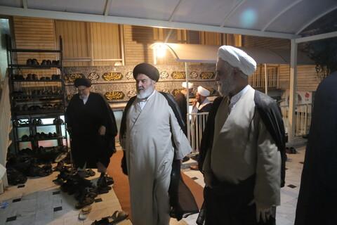 تصاویر/ سومین شب مراسم عزاداری اباعبدالله الحسین (ع) در بیت آیت الله مقتدایی