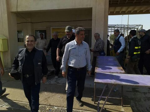 تصاویر/ حضور شهردار منطقه ۱۳ تهران در دو موکب ایرانی و عراقی مستقر در منذریه عراق
