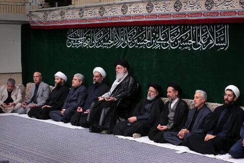 تصاویر/ مراسم عزاداری اربعین حسینی هیئتهای دانشجویی با حضور رهبر معظم انقلاب