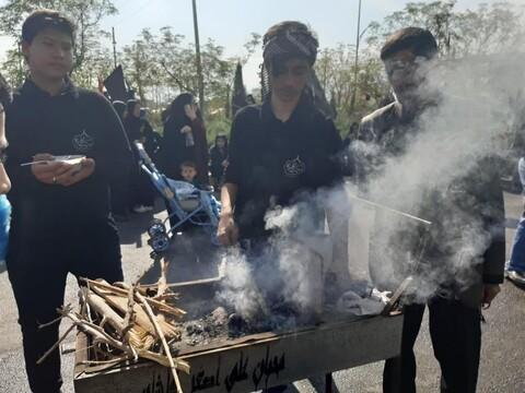 تصاویر/ راهپیمایی جاماندگان اربعین در کاشان