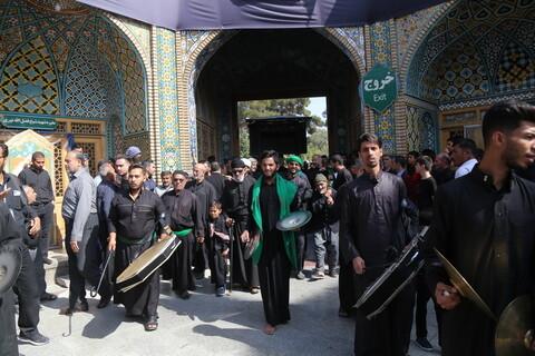 تصاویر/ حضور دسته جات عزاداری در حرم کریمه اهل بیت (ع)