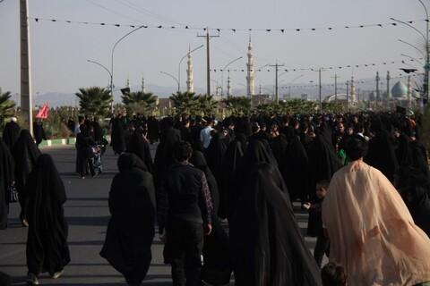 تصاویر/ راهپیمایی جاماندگان اربعین از حرم حضرت معصومه(س) تا جمکران