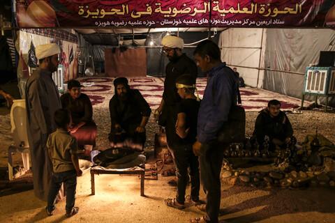 موکب امام رضا(ع) مدرسه علمیه رضویه هویزه در مرز چذابه