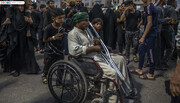 تصاویر/ معلولان مسافت طولانی را  برای زیارت اربعین امام حسین (ع) پیمودند
