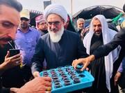 نماینده ولی فقیه در بوشهر هم قدم با  خادمان اربعین