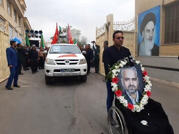 پیکر جانباز شهید دکتر عباس یوسفی در کاشان تشییع شد