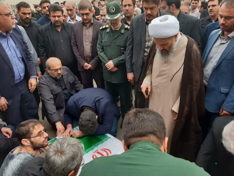 تصاویر/ تشییع پیکر جانباز شهید دکتر عباس یوسفی - کاشان